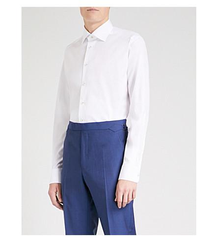 ETON 当代适合棉衬衫 (白色