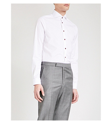 ETON Super-slim fit cotton-poplin shirt (White