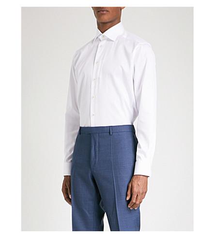 ETON Contemporary-fit cotton-twill shirt (White