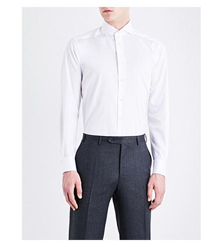 de Camisa ETON de de algodón corte sarga moderno blanca H5vdq