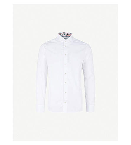 ETON Slim-fit cotton shirt (White