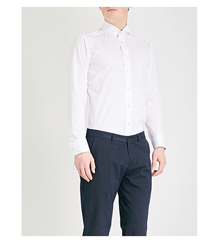 ETON Slim-fit cotton shirt (White