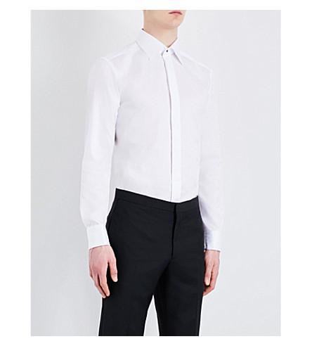 ETON 修身版型棉衬衫 (白色