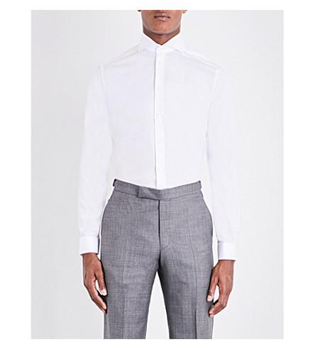 solo slim super de de algodón puño ETON Blanco un Camisa 1BqF00
