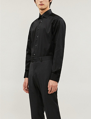 ETON Contemporary-fit single-cuff cotton-twill shirt