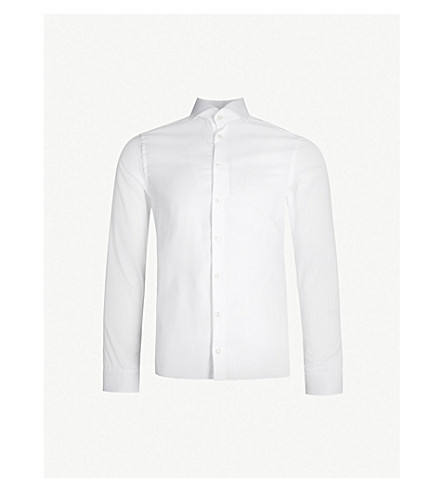 ETON Contemporary-fit cotton-twill shirt (White