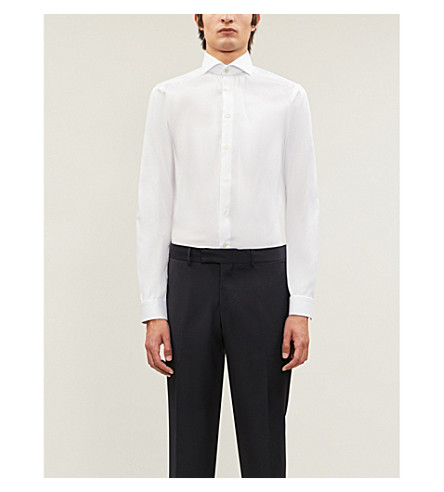 ETON Contemporary White fit White shirt twill shirt cotton twill Contemporary cotton ETON fit S4aqS6