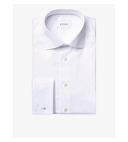 ETON 当代适合双袖棉衬衫 (白色
