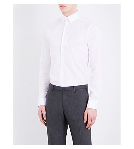 ETON Slim-fit cotton-twill shirt (White