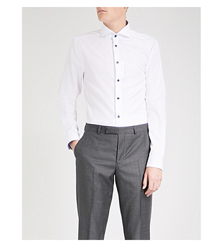ETON Super slim-fit cotton shirt (White