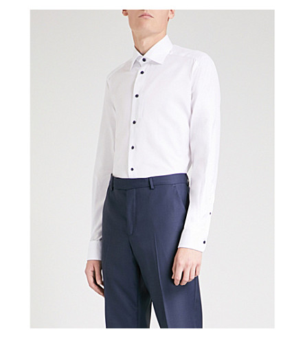 ETON Contemporary-fit cotton-poplin shirt (White