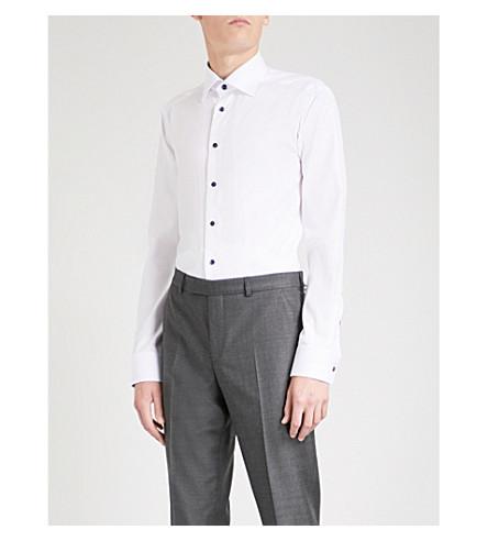 ETON Slim-fit cotton-poplin shirt (White