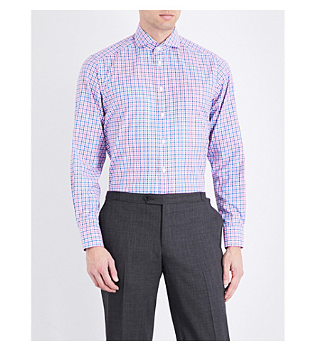 ETON Contemporary-fit cotton shirt (Pink/red