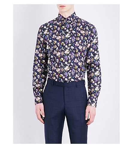 ETON Contemporary-fit cotton shirt (Blue