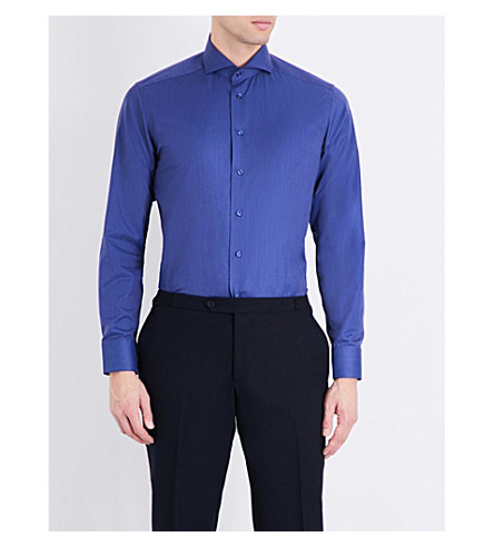 ETON Slim-fit cotton shirt (Blue