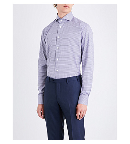 ETON Checked cotton shirt (Blue