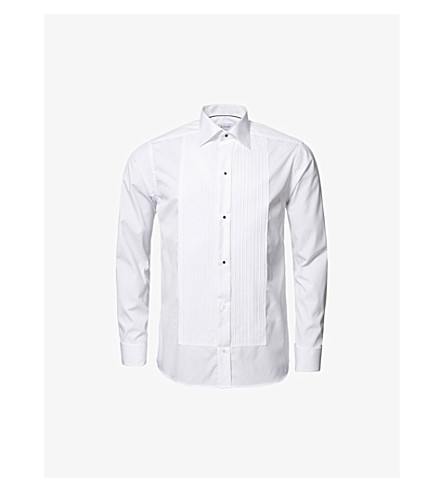 ETON Slim-fit double-cuff cotton shirt (White