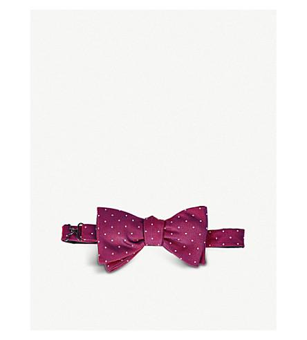 ETON Polka dot silk bow tie (Pink/red