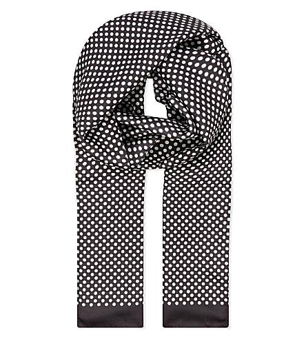ETON 波尔卡点丝巾 (黑色