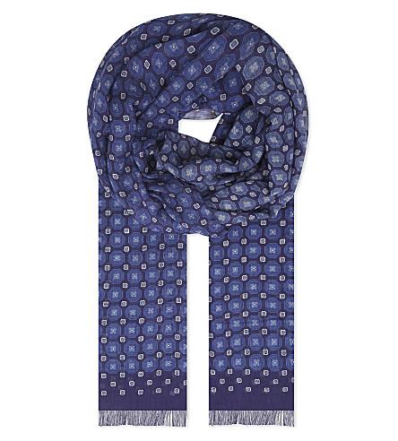 ETON Geometric print scarf (Blue