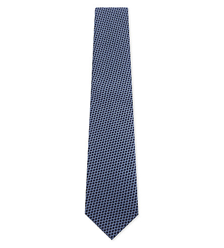 ETON Geometric silk tie (Blue