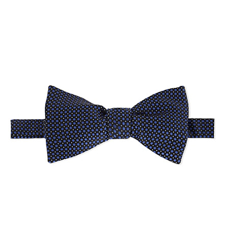 ETON Polka dot silk bow tie (Grey