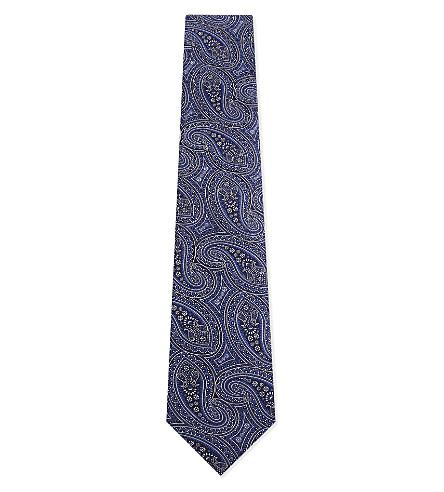ETON Paisley silk tie (Blue