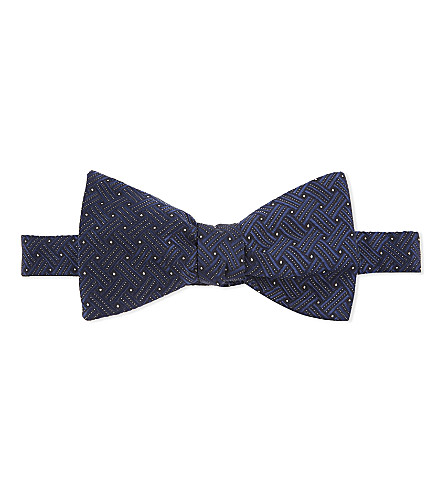 ETON Patterned silk bowtie (Blue