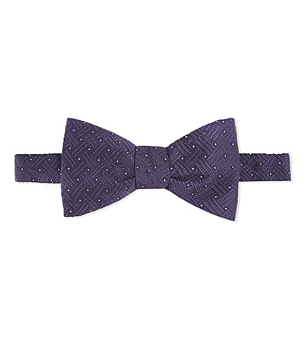 ETON Patterned silk bowtie (Purple