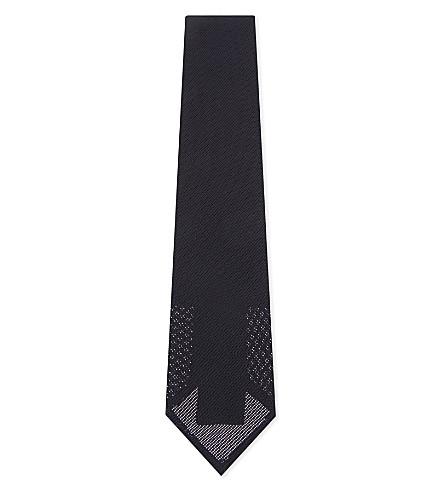 ETON Wide weave silk tie (Blue