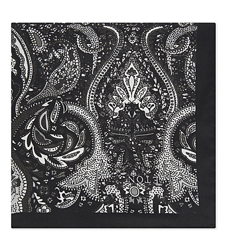 ETON Silk pocket square (Black