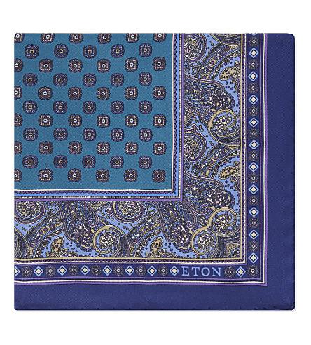 ETON Silk pocket square (Blue