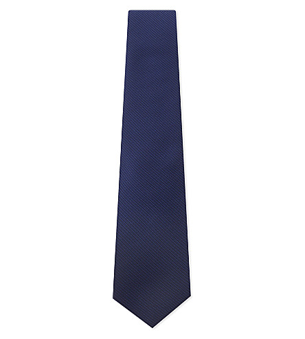 ETON Mini square textured silk tie (Blue