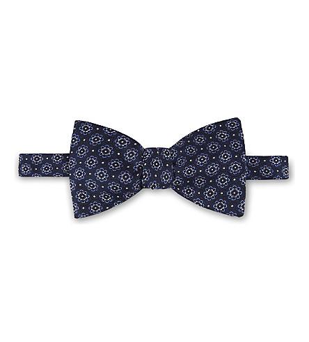 ETON Floral silk bowtie (Blue