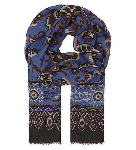 ETON Paisley print scarf (Blue