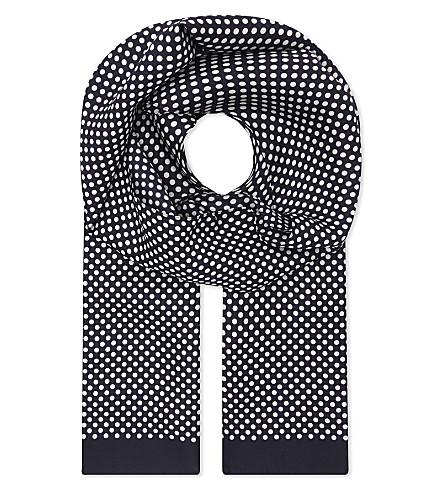 ETON Polka dot silk pocket square (Black