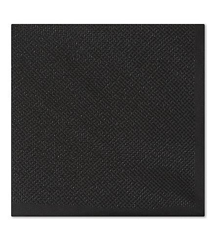 ETON Metallic silk-blend pocket square (Black