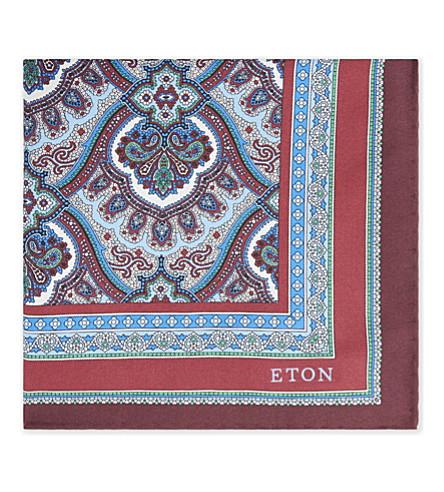 ETON Hamsa-print silk pocket square
