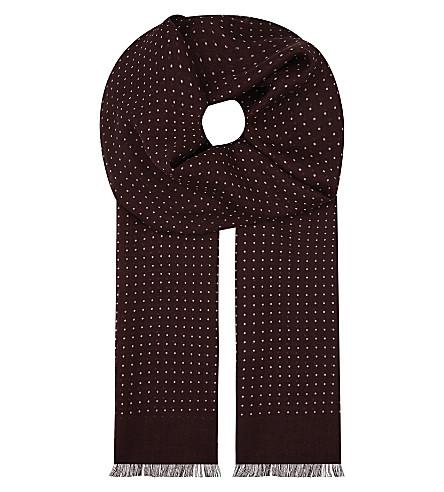 ETON 圆点羊毛丝围巾 (粉红色/红色