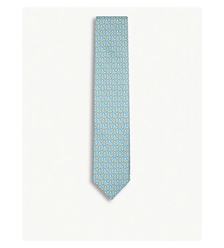 ETON Beach ball-pattern silk tie (Blue