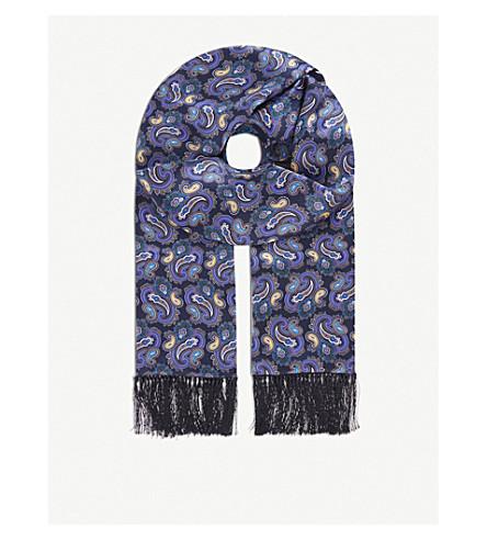 ETON Paisley silk scarf (Blue