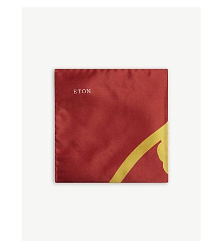 ETON Year of the Dog silk pocket square (Pink/red