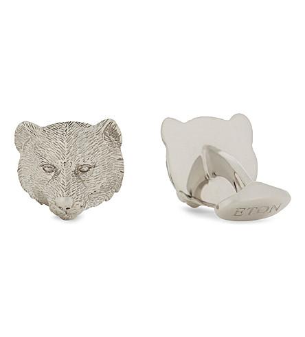 ETON Bear cufflinks (Silver