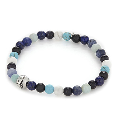 ETON Multi-coloured bead bracelet (Blue
