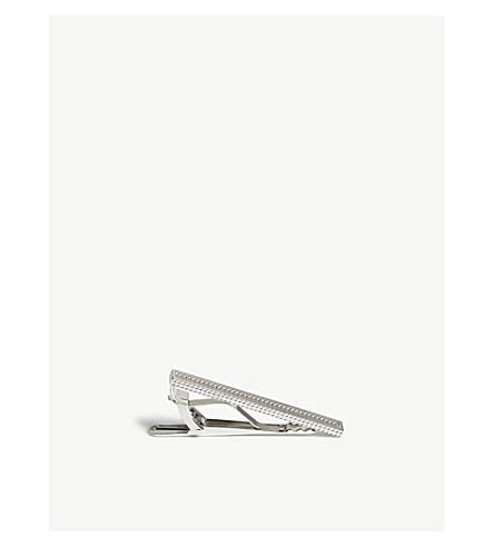 ETON Textured silver tie bar (Silver