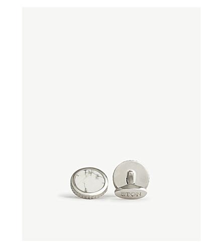 ETON Marble stone cufflinks (Silver