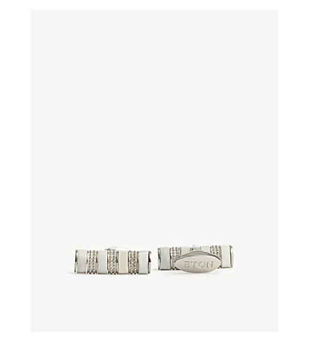 ETON Marble cylinder cufflinks (White