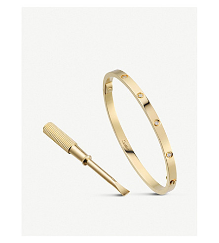CARTIER LOVE 18ct yellow-gold and diamond bracelet