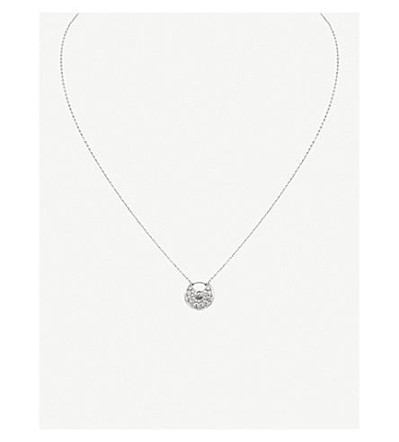 CARTIER Amulette de Cartier 18ct 白金钻石项链