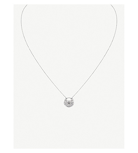 CARTIER Amulette 德 Cartier 18ct 白金钻石项链
